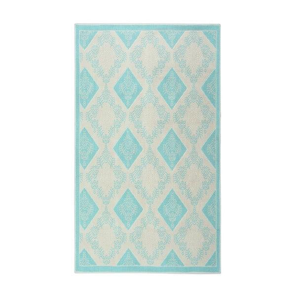 Turkusowy dywan bawełniany Floorist Kehide, 100x200cm