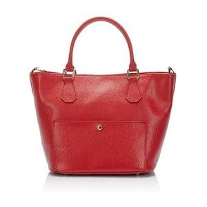 Czerwona   torebka skórzana Giulia Massari Jacqueline