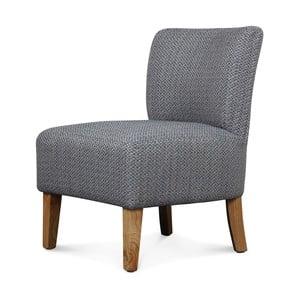 Szaro-niebieski fotel Opjet Swing
