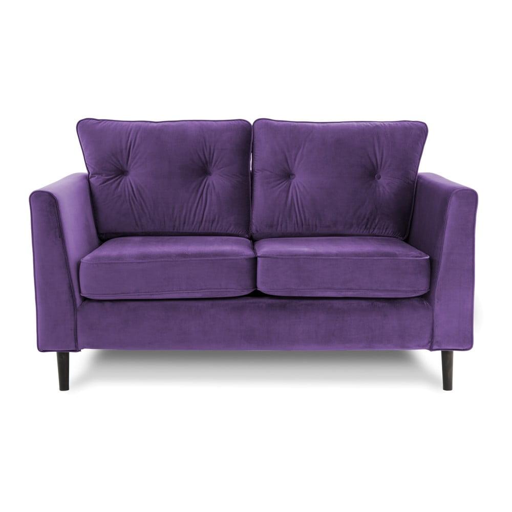 Fioletowa sofa dwuosobowa VIVONITA Portobello