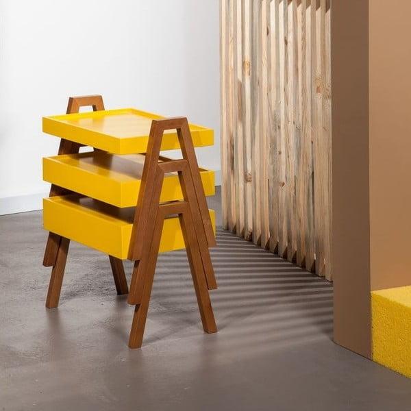 Zestaw 3 stolików Innovia Yellow