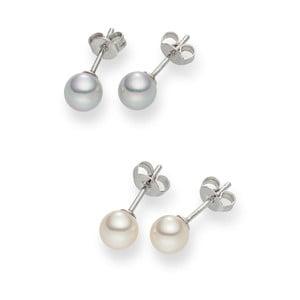 Komplet 2 par kolczyków perłowych Nova Pearls Copenhagen Défeibos