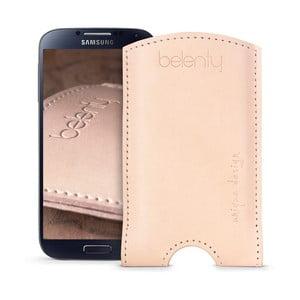 Skórzane etui na Samsung Galaxy S4 Cream