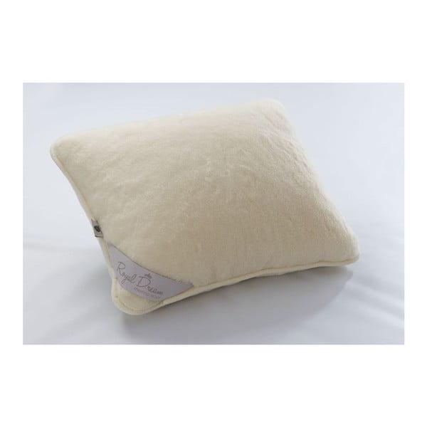 Poduszka wełniana Royal Dream Cream, 50x60 cm