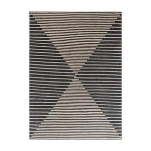 Beżowo-niebieski dywan wełniany ręcznie tkany Linie Design Cono, 170x240cm