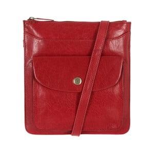 Damska torba skórzana Lilia Cranberry