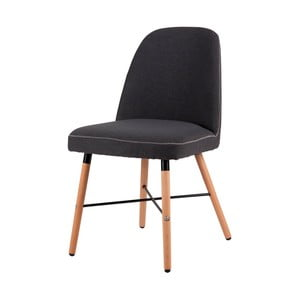 Tmavě šedá jídelní židle s podnožím z bukového dřeva sømcasa Kalia