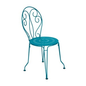 Turkusowe krzesło metalowe Fermob Montmartre