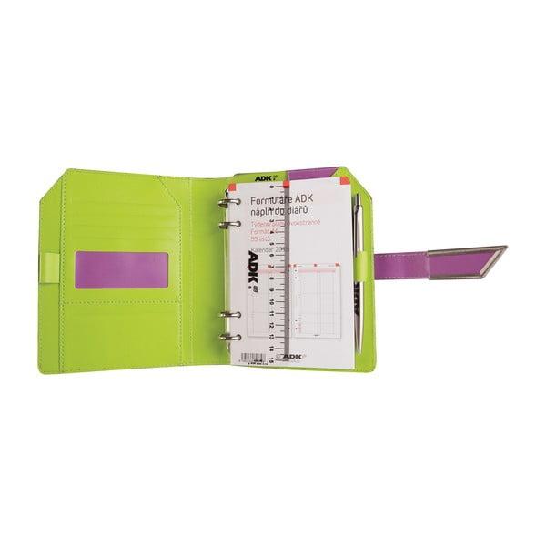 Kalendarz na rok 2016 AKD, fioletowo-zielony, rozm. A6