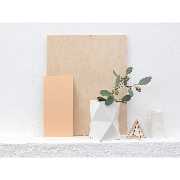 Składany wazon origami SNUG.Low White