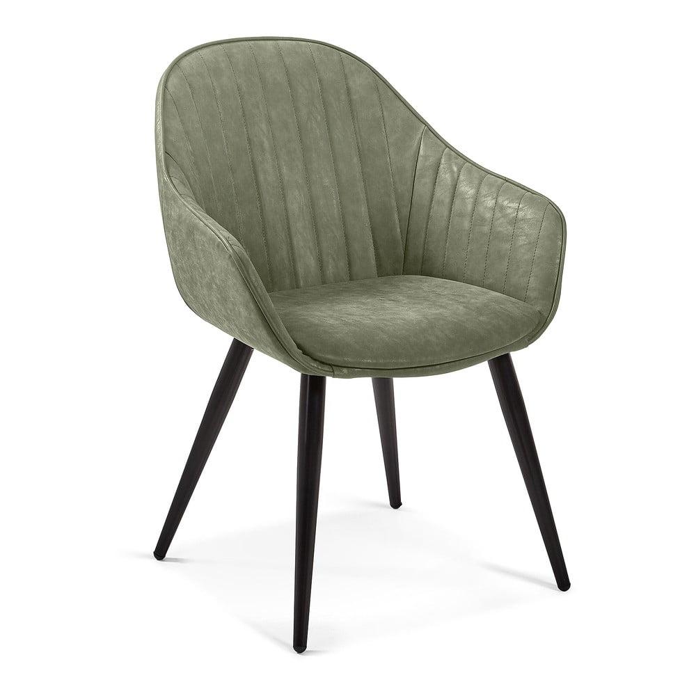 Zielone krzesło do jadalni La Forma Herbert