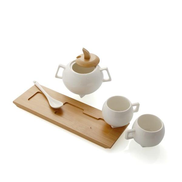 Zestaw   filiżanek i cukiernicy Brandani Cafe