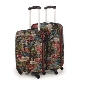 Zestaw 2 czarnych walizek Lois, Czarna