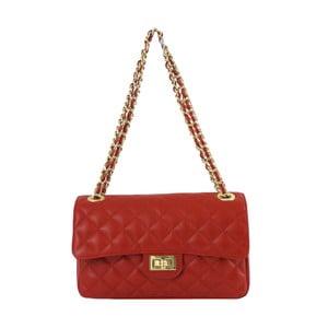 Czerwona skórzana torebka Chiara