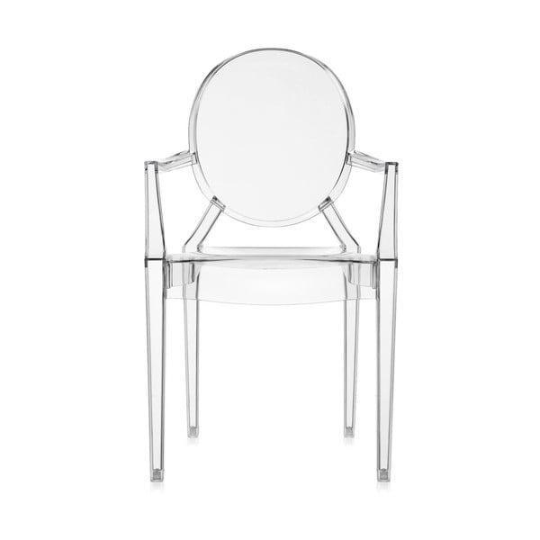 Przezroczyste krzesło Kartell Lou Lou Ghost