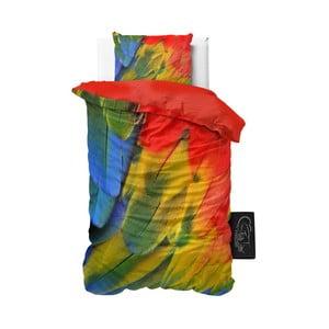 Pościel z mikroperkalu Sleeptime Parrot, 140x220 cm