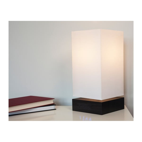 Lampa Click Clock z budzikiem z niebieskim LED, czarna