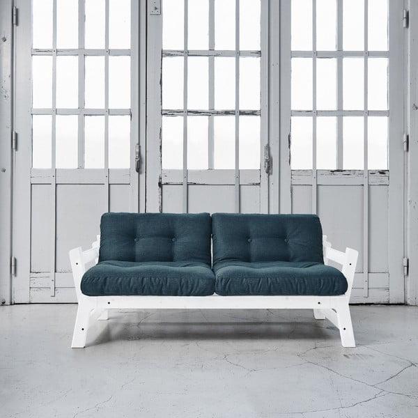 Sofa rozkładana Karup Step White/Deep Blue