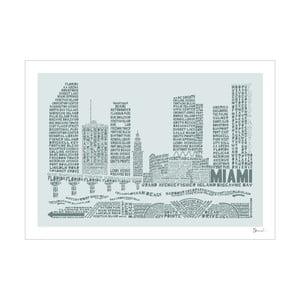 Plakat Miami Grey&Grey, 50x70 cm