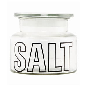 Szklany pojemnik z pokrywką Typo Salt