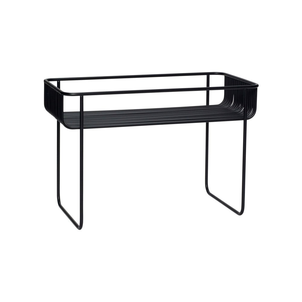 Czarny żelazny stolik Hübsch Hurto