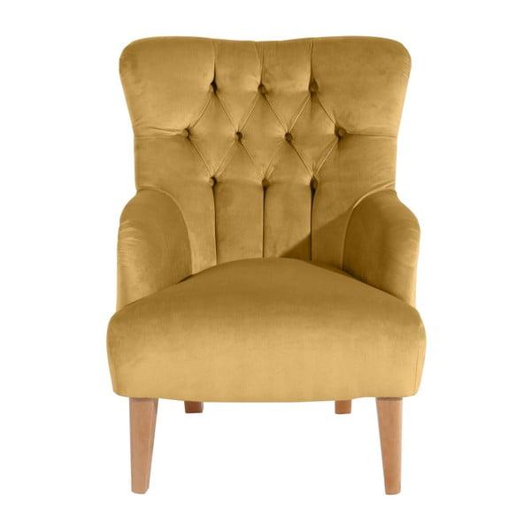 Żółty fotel Max Winzer Brandon Suede