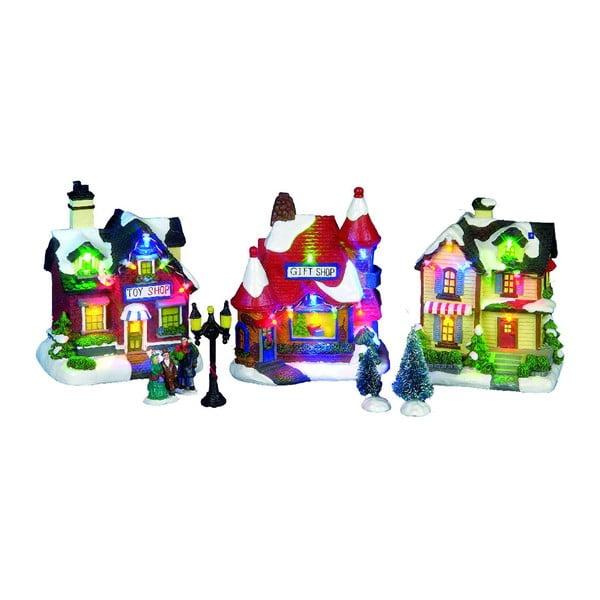 Zestaw 3 świecących dekoracji Christmas Houses