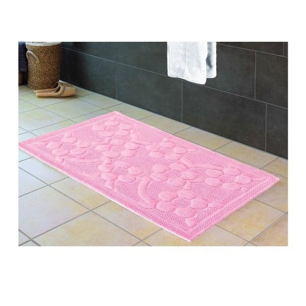 Mata łazienkowa Papatya Pink, 60x100 cm