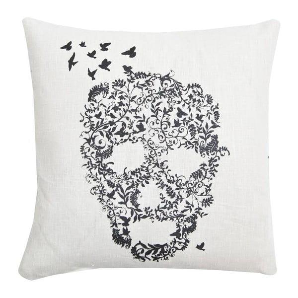 Poduszka Skull Basic White, 45x45 cm