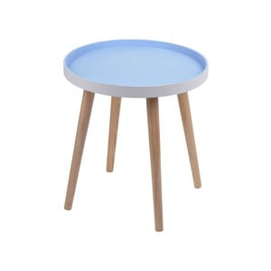 Niebieski stolik Simple Table, 38 cm