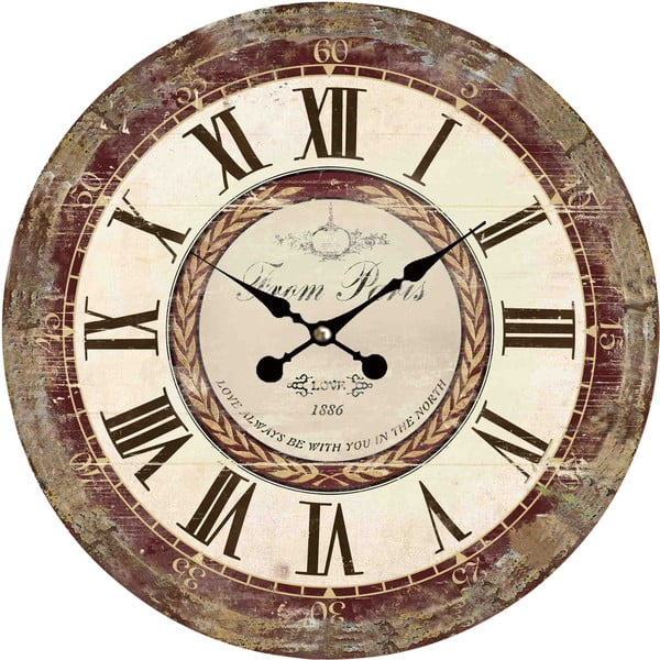 Zegar naścienny Flair Vintage, 34 cm