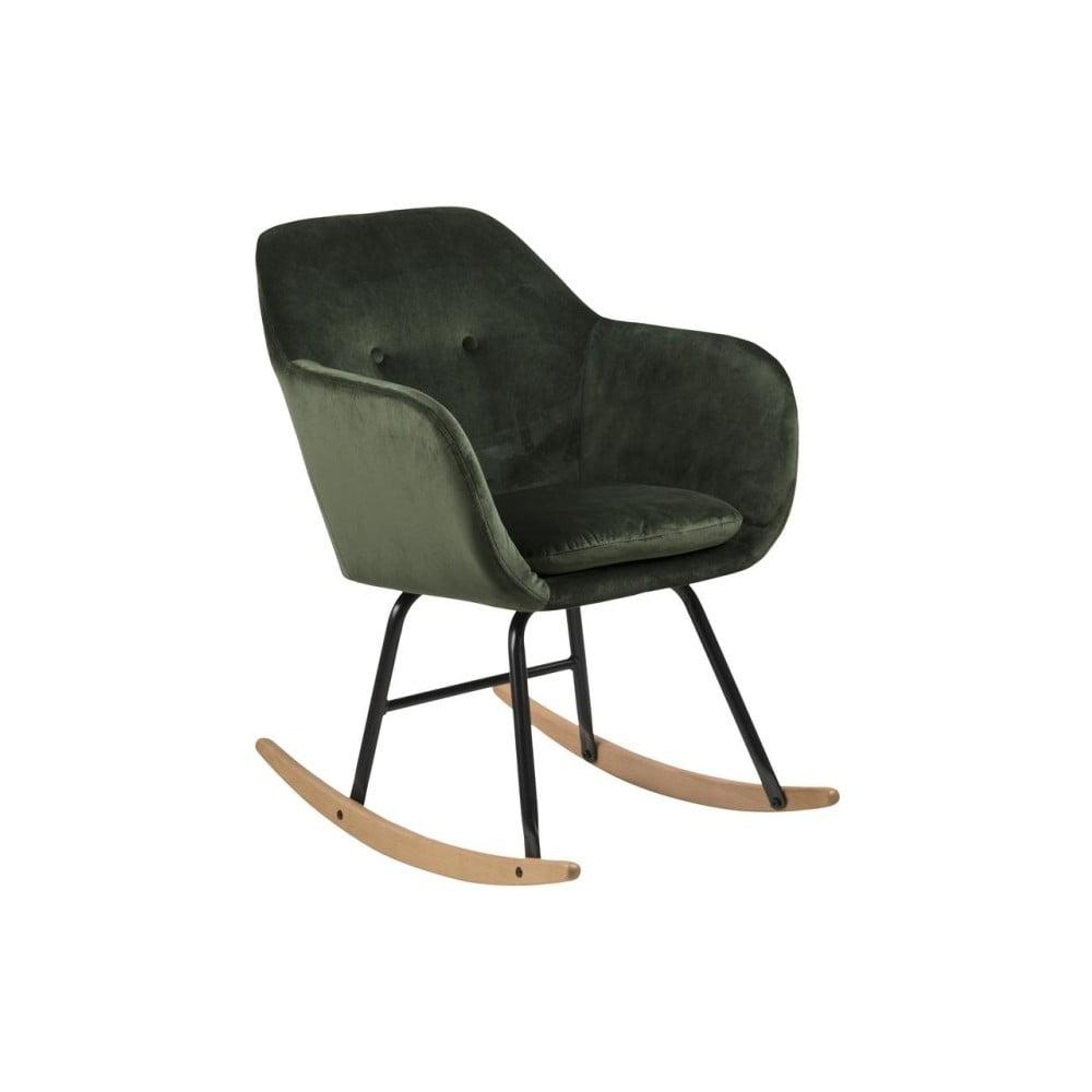 Zielone bujane krzesło Actona Emilia