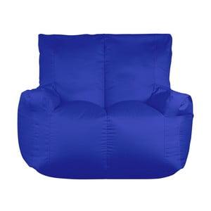 Niebieski worek do siedzenia dwuosobowy Sit and Chill Coron