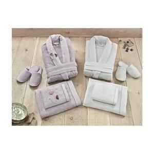 Rodzinny zestaw szlafroków i ręczników Tulips Lilac