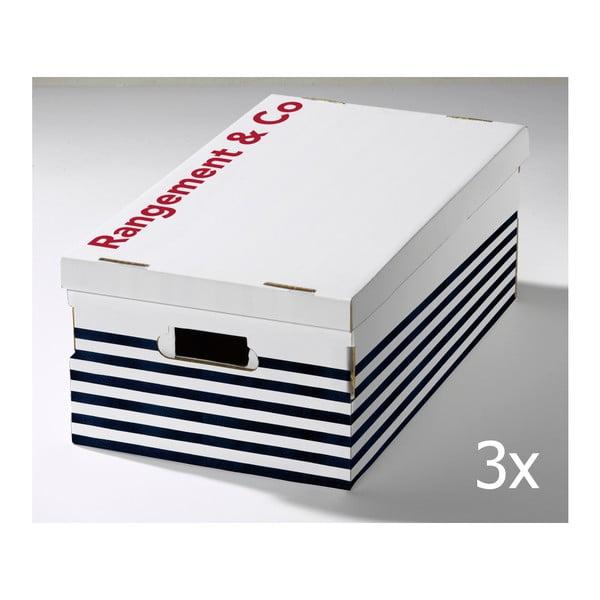 Zestaw 3 pudełek Compactor Marinieres