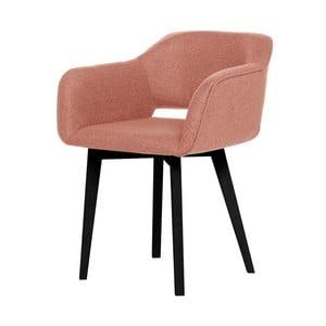 Brzoskwiniowe krzesło z czarnymi nogami My Pop Design Oldenburg
