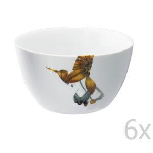 Zestaw 6 porcelanowych misek Flutter, 14 cm