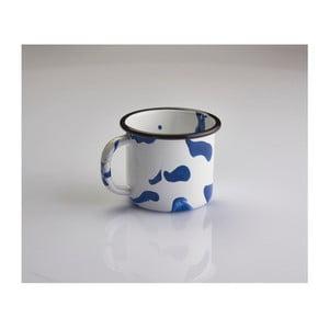 Niebiesko-biały kubek emaliowany Kapka Little Color, 350ml
