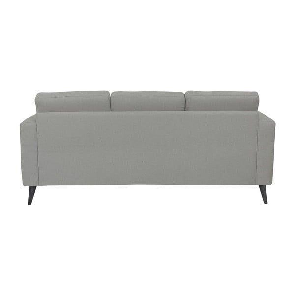 Jasnoszara sofa 3-osobowa z czarnymi nogami Helga Interiors Alex