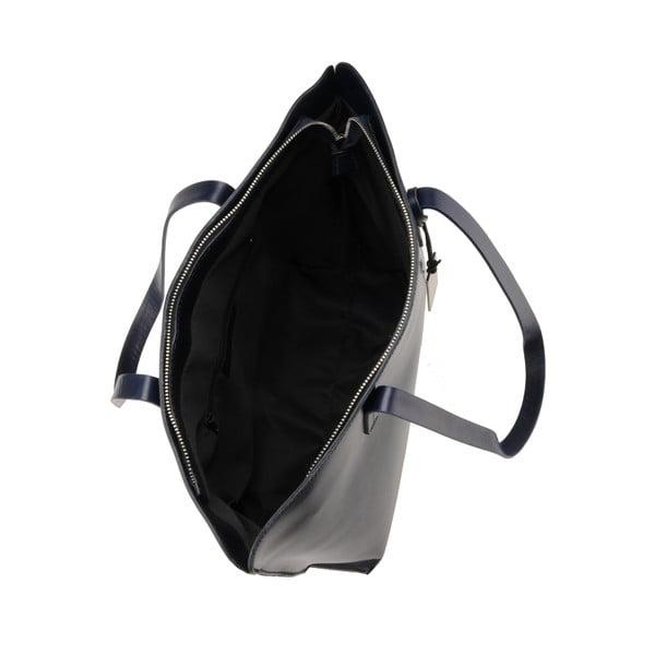 Skórzana torebka Vega, granatowa