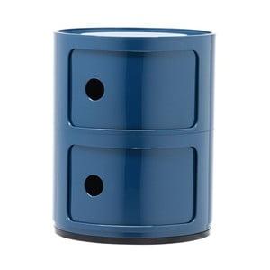 Niebieska szafka z 2 szufladami Kartell Componibili