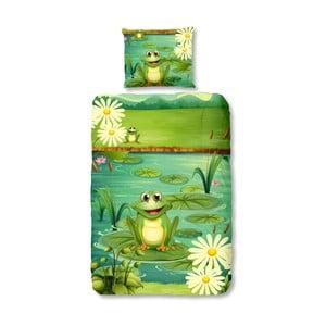 Dziecięca pościel jednoosobowa Good Morning Frogs, 140x200 cm
