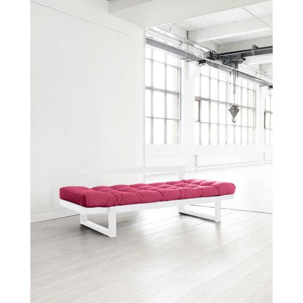 Sofa Karup Edge White/Magenta