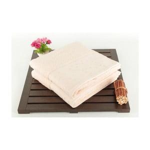 Zestaw 2 ręczników kąpielowych Tomur Crema, 50x90 cm