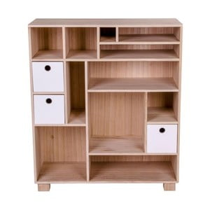 Drewniany regał z szufladami House Nordic Livorno