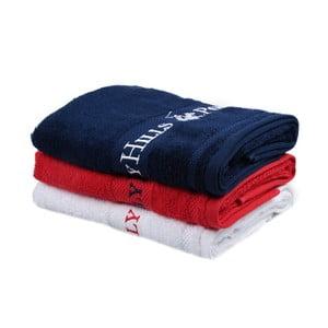 Zestaw granatowego, czerwonego i białego ręcznika Beverly Hills Polo Club Tommy Yazi, 50x100cm