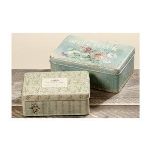 Zestaw 2 dekoracyjnych pudełek Fleur