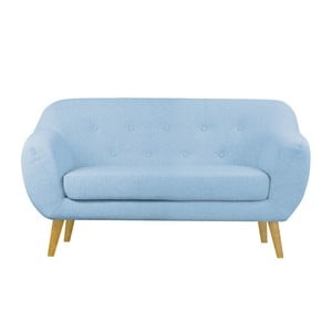 Niebieska sofa dwuosobowa Helga Interiors Oslo