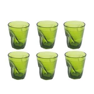 Zestaw 6 zielonych szklanek Kaleidos, 225ml