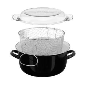 Czarny garnek do smażenia frytek Premier Housewares Deep Fryer Black, obj. 5 l